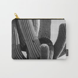 Saguaro Cactus - Black and White Carry-All Pouch
