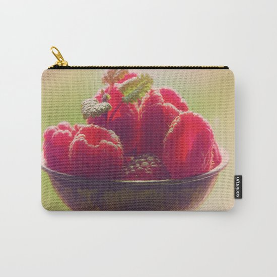 Raspberries fruit enjoyment Carry-All Pouch