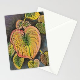 Hosta Leaves - Fall Stationery Cards