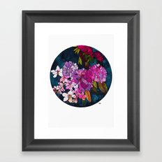 Purple Globes of Rhododendron  Framed Art Print