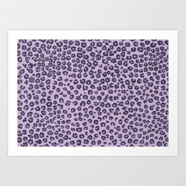 Pink cheetah Art Print