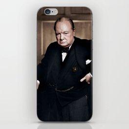 Winston Churchill in colour iPhone Skin