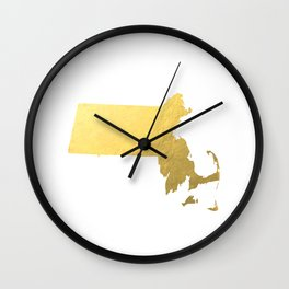 Usa Map Gold Foil Printable Art Wall Art Real Gold Foil 8x10 Canvas Usa State Map Minnesota Map Gold Wall Clock