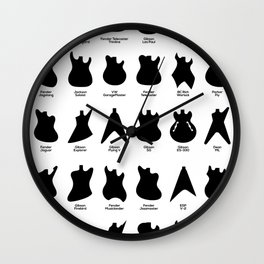 Iconic Guitar Body Shapes Wall Clock