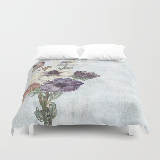 Revision of Anemones Duvet Cover