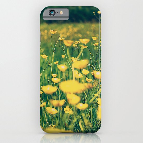 Field of yellow iPhone & iPod Case