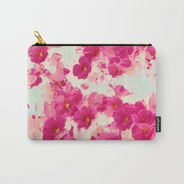 Prim Roses Flowers Garden Red Carry-All Pouch