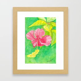 Red Hibiscus Framed Art Print