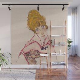 """Egon Schiele """"Edith Schiele mit Windhund"""" Wall Mural"""