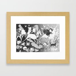 Run Along Now, and Don't Get Into Mischief! Framed Art Print
