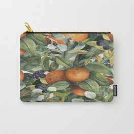 Orange Blossom Greenery Carry-All Pouch