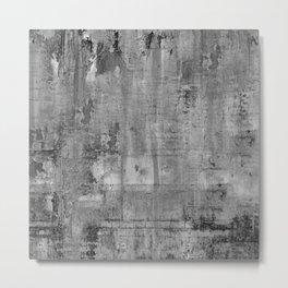GREY MODERN INDUSTRIAL RUSTIC Metal Print