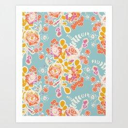 spring harvest bouquet Art Print