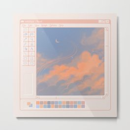 clouds ms paint Metal Print