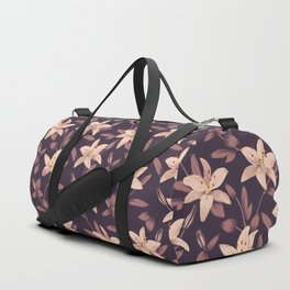 Lilies Pattern Duffle Bag