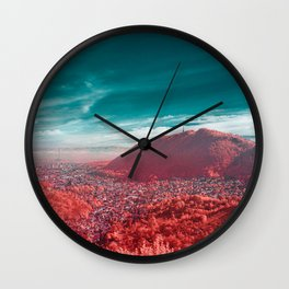 Brasov Romania infrared photography Wall Clock