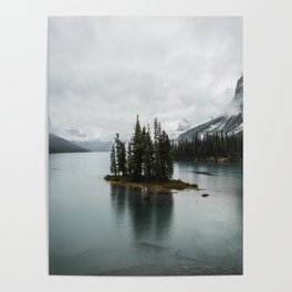 Landscape Maligne Lake Vertical View Poster