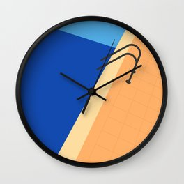 Swimming Pool with Blue Water Wall Clock