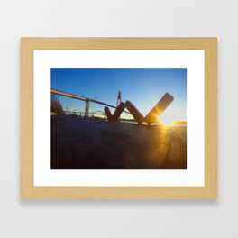 Big W Framed Art Print