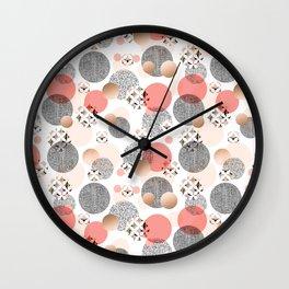 Pattern mosaic and abstract shapes Wall Clock