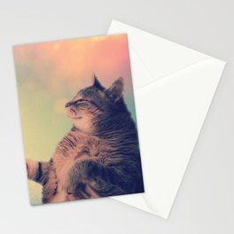 Dancing Kitty Cat Stationery Cards