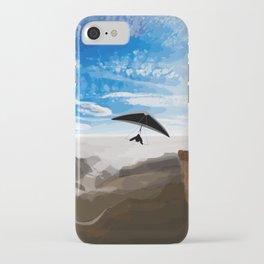 Hang gliding iPhone Case