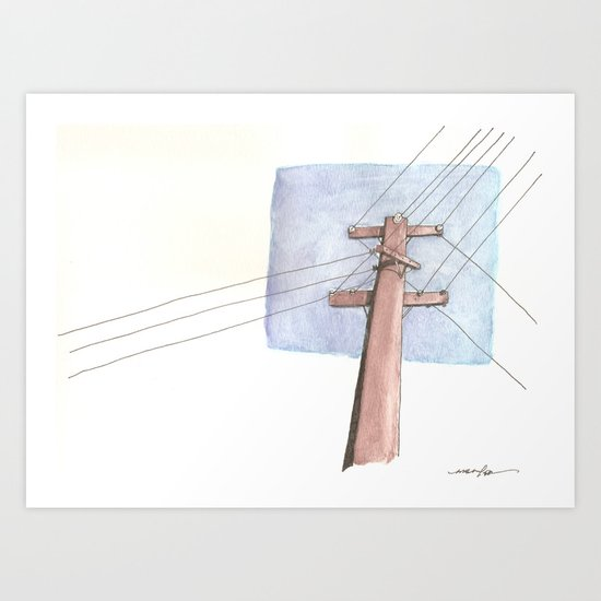 In a Network of Lines that Intersect Art Print