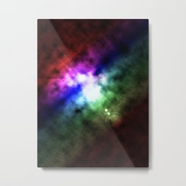 Space Dawn Aurora Metal Print