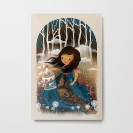 There Once Was A Girl In A Whimsical Land Metal Print