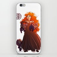 brave iPhone & iPod Skins featuring Brave by Samanthadoodles