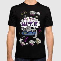 Where is THE Food? MEDIUM Black Mens Fitted Tee