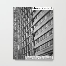 Concrete Leeds - Merrion House uncovered Metal Print