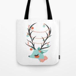 Retro Reindeer Tote Bag