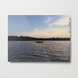 Evening Lake View Metal Print