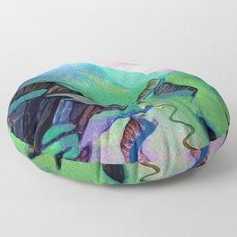 green mountains2 Floor Pillow