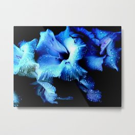 Flower Blue  Metal Print