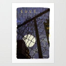 chainlinks Harlem Art Print