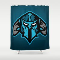 guardians Shower Curtains featuring Guardians by Foxwilleau