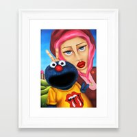 cookie monster Framed Art Prints featuring Cookie Monster by shue cane