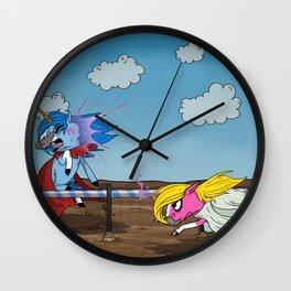 Mustache Unicorn Joust Wall Clock
