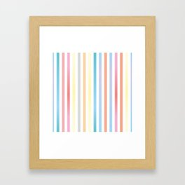 Rainbow Stripes Framed Art Print
