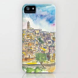 Matera Basilicata Italy Sassi View iPhone Case