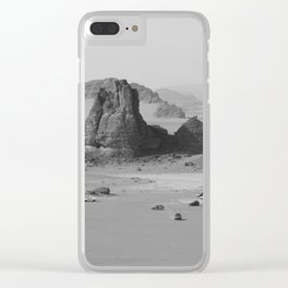 Black and White Algeria desert Clear iPhone Case