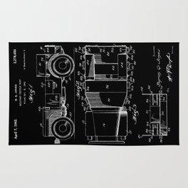 Jeep: Byron Q. Jones Original Jeep Patent - White on Black Rug