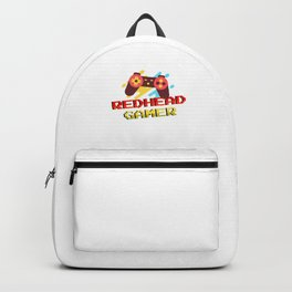 Redhead Gamer Gaming Red Hair Redheads Ginger Gift Backpack