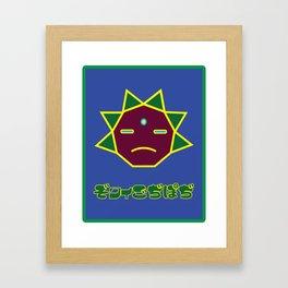 Hedgehog   Minimoshi Series Framed Art Print