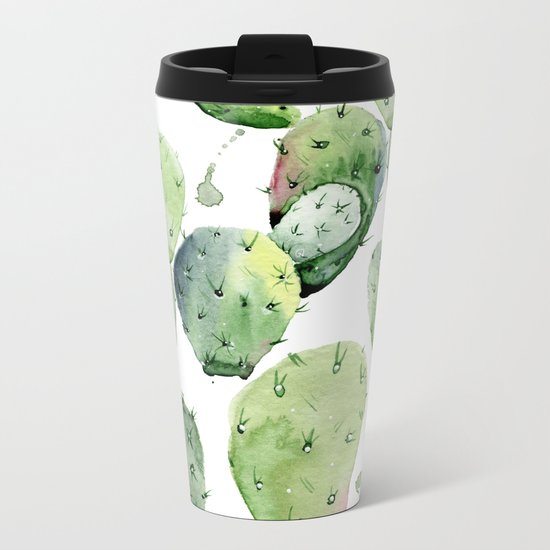 Cactus commotion Metal Travel Mug