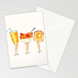 Breakfast Pin-Ups Stationery Cards