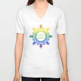 Gey LGBT Pride Mandala Unisex V-Neck