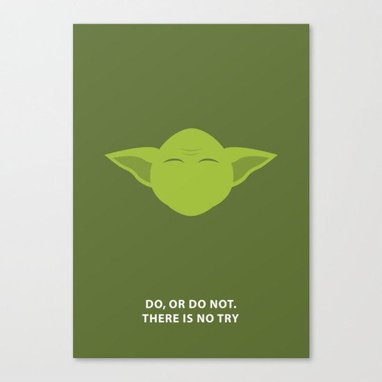 Star Wars Minimalism - Yoda Canvas Print